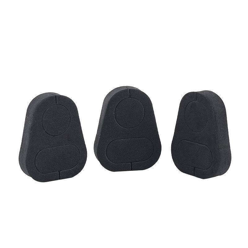 黑色缓震脚垫EVA海棉脚垫 eva自粘泡绵垫 防滑橡胶垫 背胶硅胶垫